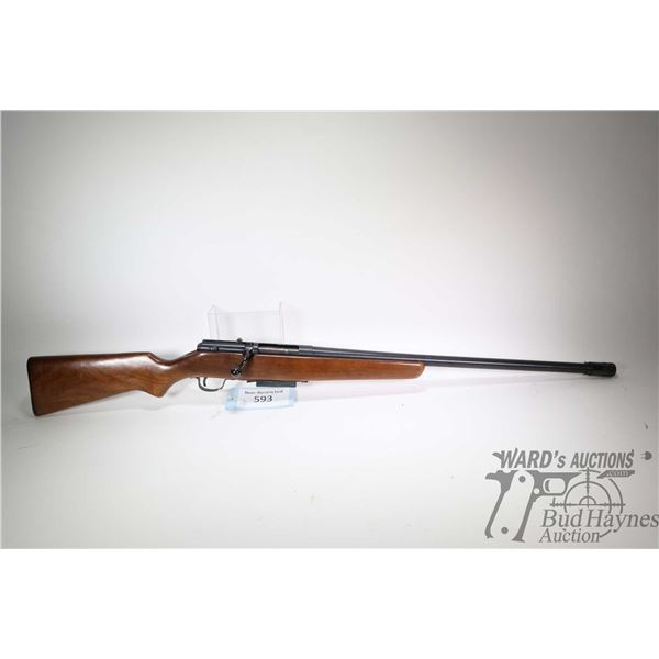 "Non-Restricted rifle Stevens model 56, 12 ga. 2 3/4"" bolt action, w/ bbl length 24"" [Blued barrel an"