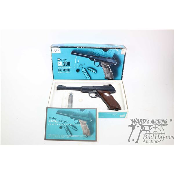 Vintage Daisy Co2 200 gas operated BB/ .177 cal pellet pistol including original box and owner's man