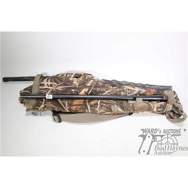 Remington 40X 6mm Rem rifle barrel and a camo soft rifle case