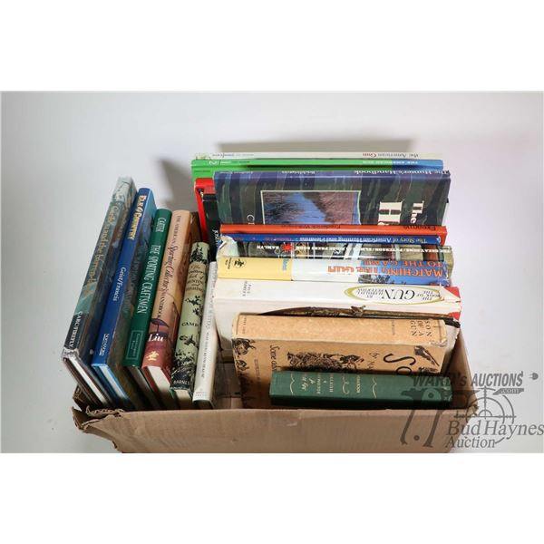 Selection of Hunting and Outdoor sportsman hard cover books including Matching The Gun to the Game,