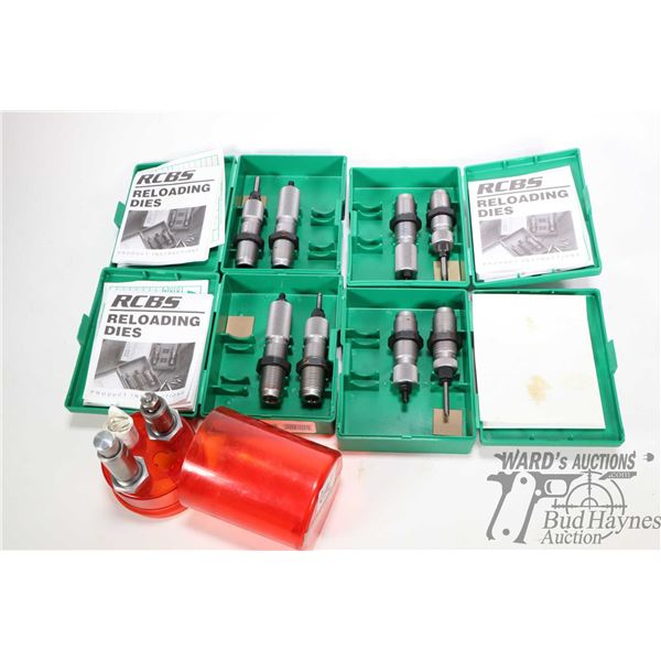 Selection of reloading dies, four RCBS including two piece  .223 Rem P/N 11101, two piece .32 Win Sp