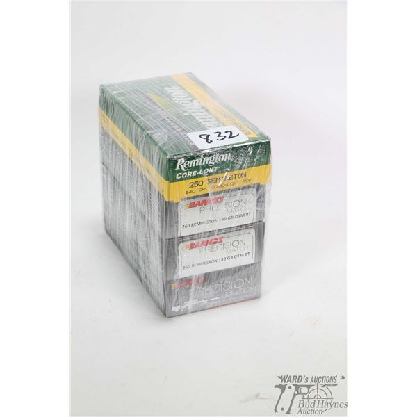 Four full 20 count boxes of .260 Remington including three boxes of Barnes Precision Match 140 grain
