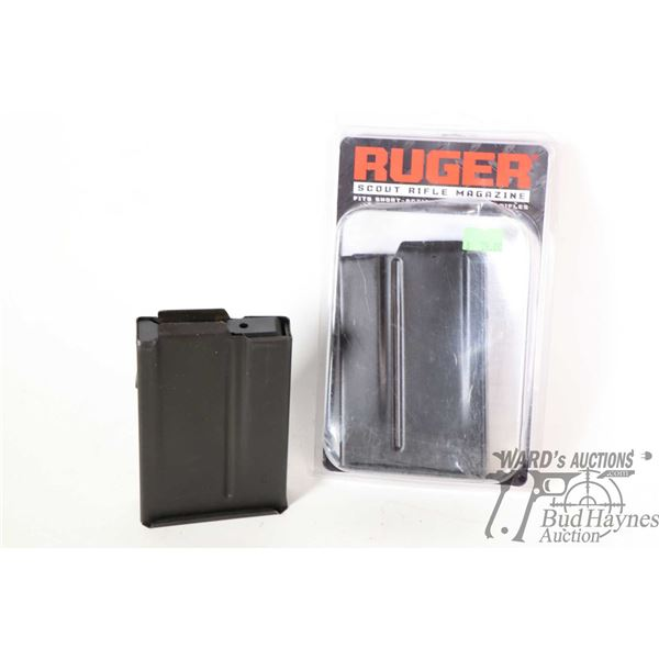 Two Ruger .308 short action Scout Rifle magazines