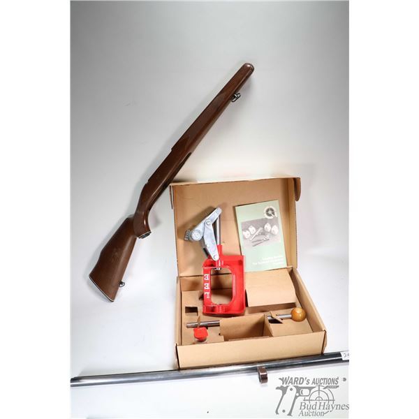 """Wooden stock for Parker-Hale  rifle, a 12 ga. 3"""" Remington 870 barrel 30"""" in length, in used conditi"""