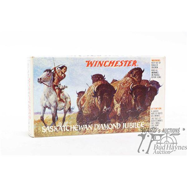Full 20 count box of Winchester Saskatchewan Diamond Jubilee .38-55 Win ammunition with head stamp S