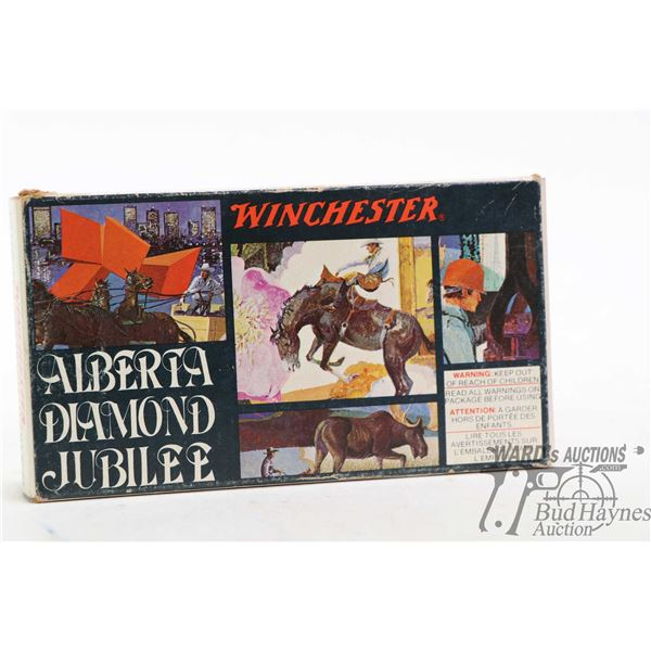 Full 20 count box of Winchester Alberta Diamond Jubilee .38-55 Win ammunition with head stamp W-W .3