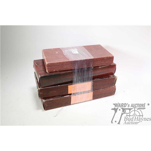 Four vintage original Colt cardboard boxes including Officer's Model Match Revolver, a DiamondBack .