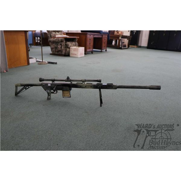 """Shop made mag fed bolt action replica rifle display piece 60"""" in length"""