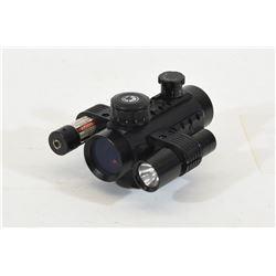 Barska Red Dot Optic w/ Light & Laser