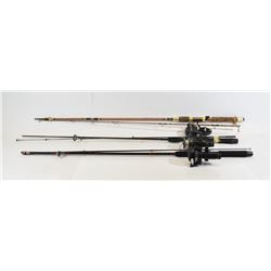 Lot of 6 Spinning Rods w/ 4 Reels