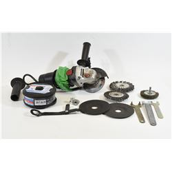 "Jobmate 4 1/2"" Angle Grinder & Accessories"