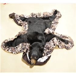 Black Bear Taxidermy Rug