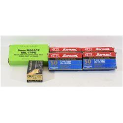 Mixed Lot 9mm Luger Ammunition