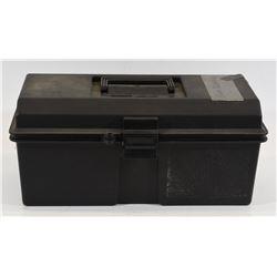 "Lot of Gun Cleaning in 16"" x 7"" Plastic Box"