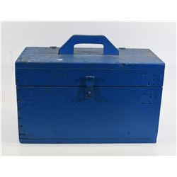 Blue Wood Ammunition Box