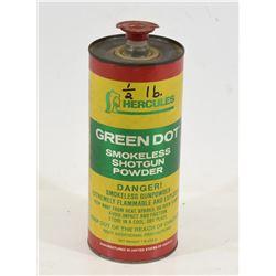 Approximately 1/2lb of Hercules Green Dot Powder