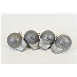 4 8lb Unpainted Downrigger Cannon Balls