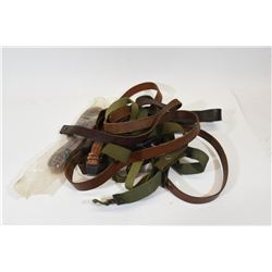 8 Military Rifle and Leather Slings