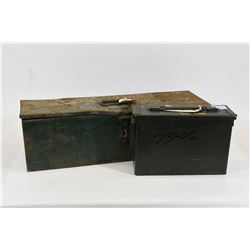 Mixed Lot Metal Ammo Box and Chest
