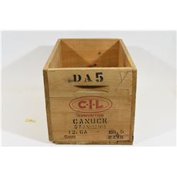 CIL Canuck Wooden Box for Shotshells