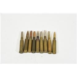 Assorted 6.5mm Rifle Cartridges