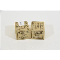 2 Boxes of Sisk Bullets