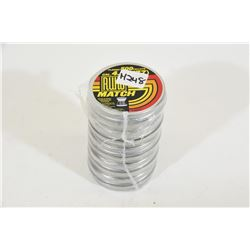 5 Tins 500 RUKO .177 Match Pellets