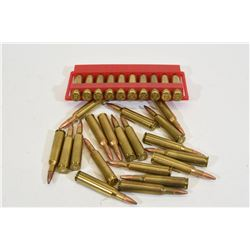19 Rounds 6mm Remington Factory Ammunition