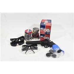 Box Lot Pellet Gun & Accessories