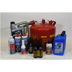 Box Lot Fuel Can & More WILL NOT SHIP. MUST PICK UP.