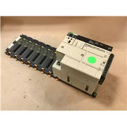OMRON SYSMAC C200HS PROGRAMMABLE CONTROLLER W/ SLK23 MODULE
