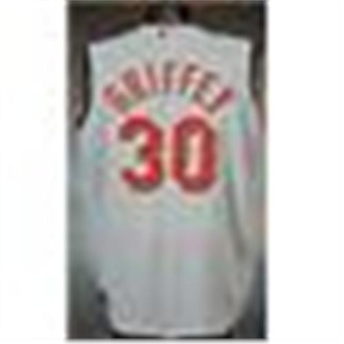 lowest price 6a6f5 fee64 2000 Ken Griffey, Jr. Cincinnati Reds Game-Used Road Jersey