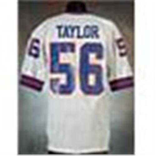 quality design 2bd7c 4236d 1990 Lawrence Taylor New York Giants Game-Used White ...