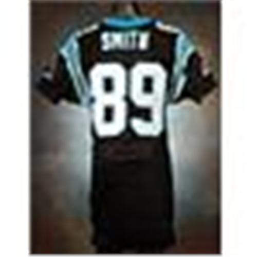 469bd188 2006 Steve Smith Carolina Panthers Game-Used Black Mesh Jersey