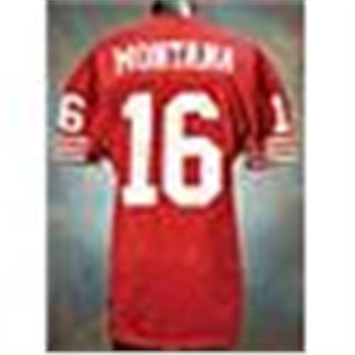 75a0116f911 Image 1   Circa 1990 Joe Montana San Francisco 49ers Game-Used   Autographed  Red