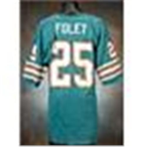 hot sale online 42774 d6651 1970s Tim Foley Miami Dolphins Game-Used Aqua Mesh ...