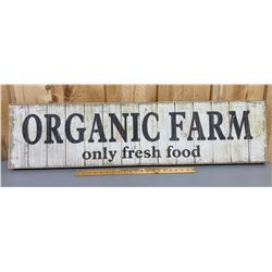 "'ORGANIC FARM' - WOOD SIGN - 12"" x 48"""