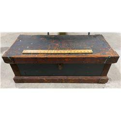 "ANTIQUE CARPENTERS BOX W/ HANDLES - 15.5"" X 33"""