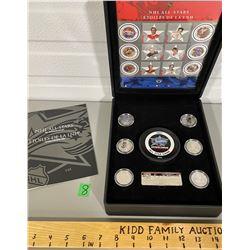 NHL 2001 COMMEMORATIVE SET INCLUDING COINS