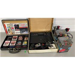 ATARI MODEL 2600 SYSTEM W/ 14 X GAMES