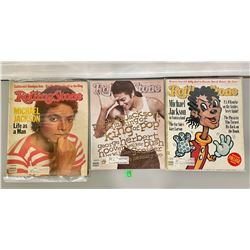 LOT OF 3 ROLLING STONE MAGAZINES FEATURING MICHAEL JACKSON