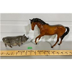 LOT OF TWO ROYAL DOULTONS HORSE AND PIG