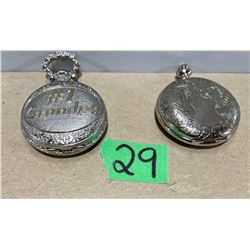 LOT OF 2 WORKING POCKET WATCHES