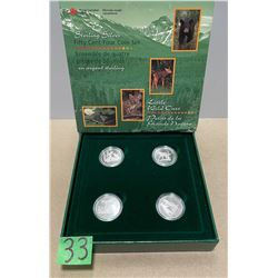 FOUR 50 CENT PIECE COIN SET STERLING