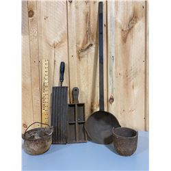 LOT OF ANTIQUE FORGING TOOLS & MOLDS