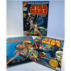 EDITION #1 & 2 OF STAR WARS 1977 COLLECTORS EDITION & TARZAN - 1973