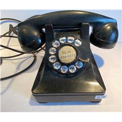 NORTHERN ELECTRIC BAKELITE ROTARY PHONE WITH WIRING
