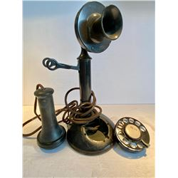 CANDLESTICK TELEPHONE WITH PARTS & WIRING