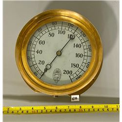 "7"" BRASS TORONTO STEAM GAUGE"