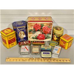 LOT OF 13 COLLECTIBLE TINS